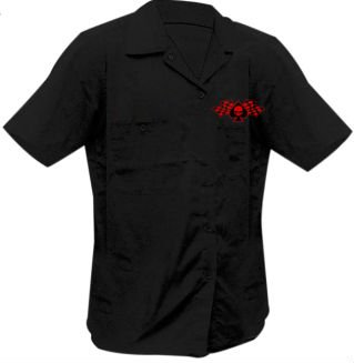 Lethal Threat Men's Highway Outlaw Workshirt (Pipes N Pistons Screenprinted)(Black, XX-Large), 1 Pack