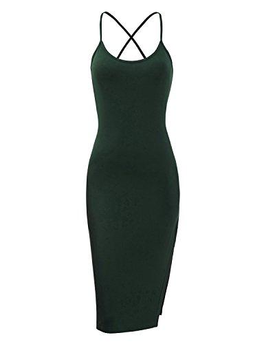 Regna X Love Coated Womens Green Backless Sleeveless Beach Dress Xlarge (Sexy Womens Fancy Dress)