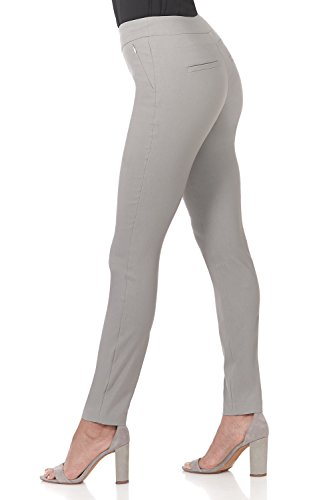 Rekucci Women's Ease in to Comfort Modern Stretch Skinny Pant w/Tummy Control (10,Silver) by Rekucci (Image #1)