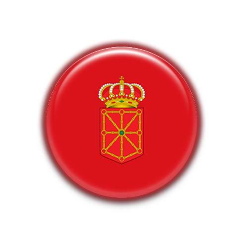 Navarra : Bandera Comunidad Autonoma Española, Pinback Button Badge 1.50 Inch (38mm)