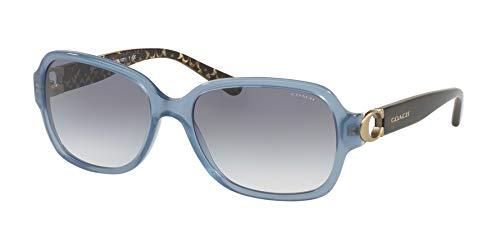 Coach Women's HC8241 Sunglasses Match Milky Blue Denim/Blue Gradient 57mm (Blue Coach Sunglasses)