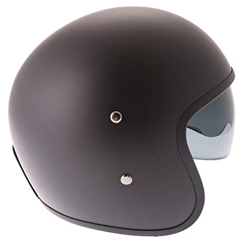 Frank Thomas Carbon 363 Open Face Motorcycle Helmet Matt Black J/&S S