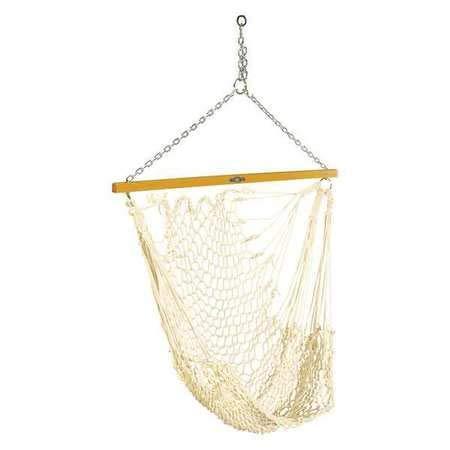 Single Cotton Beige Rope Swing