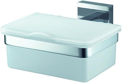 Haceka 28300110 - Estuche para toallitas húmedas, Color Blanco y Plateado: Amazon.es: Hogar