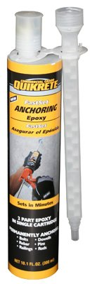 Quikrete Companies 8620-30 Fast Set Anchoring Epoxy, 8.6-oz. - Quantity 6