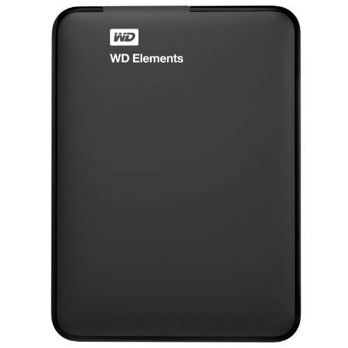 WD 500GB Elements Portable External Hard Drive  - USB 3.0  - WDBUZG5000ABK-NESN - Western Digital External Portable Hard Drives