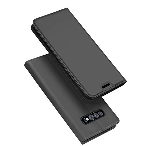 (Totoose Case for Samsung Galaxy S10e, Back Shell Wallet Leather Case with Card Holder and Kickstand, Accessory Durable Protective Case Cover for Samsung Galaxy S10e - Grey)