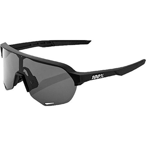 100% S2 Sunglasses,OS,Soft Tact Black/Smoke