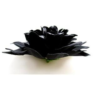 "(4) Black Silk Dahlia Flower Heads - 4"" - Artificial Flowers Dahlias Head Fabric Floral Supplies Wholesale Lot for Wedding Flowers Accessories Make Bridal Hair Clips Headbands Dress 2"