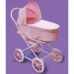 Pram Doll One (Badger Basket Pink Rosebud 3-in-1 Doll Pram)