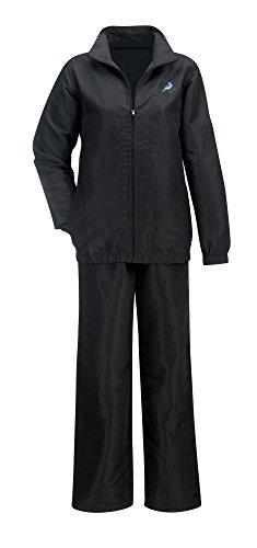 Black Womens Tracksuit - The Paragon Jogging Suit - Tracksuit for Women, 2 Piece Running Suit (Black, Medium)