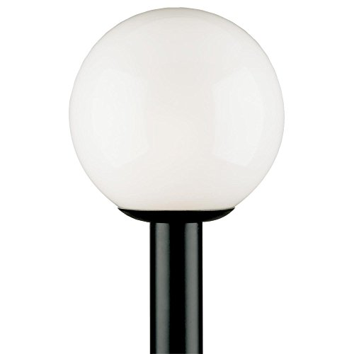 Polycarbonate Light Globes - Westinghouse Lighting 6686100 One-Light Post-Top Exterior Lantern, Black Finish Polycarbonate with White Acrylic Globe