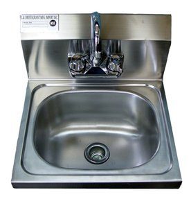 Stainless Steel Hand Sink 16.5u0026quot; X 16u0026quot;   NSF   Commercial Equipment