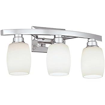 Allen Roth 3 Light Chrome Bathroom Vanity Light