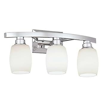Allen roth 3 light chrome bathroom vanity light for Amazon bathroom vanity lights