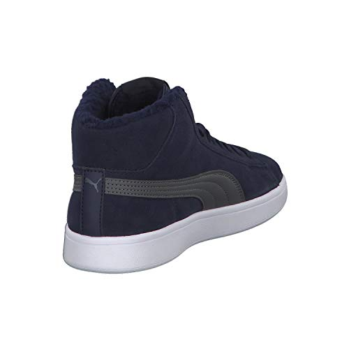 Hautes iron Puma V2 Peacoat Baskets Jr Smash Bleu Mid Gate Mixte Fur 01 Enfant 5xYnr1xP