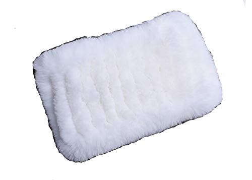 Rex Rabbit Fur Headband - ERaBLe(TM) Women Winter Cold weather Rex Rabbit Fur Knitted Headbands 4 colors (White)