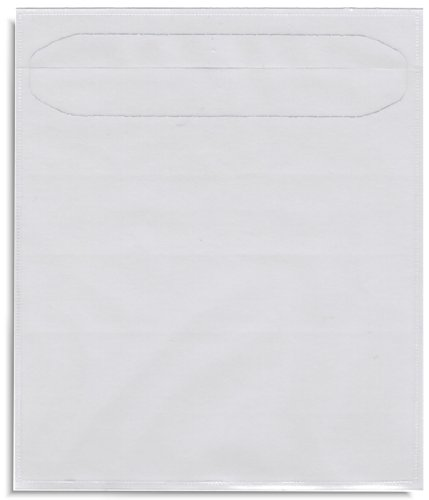 Clear Poly Sleeve with Adhesive backing for CD/DVD (100pack) ()