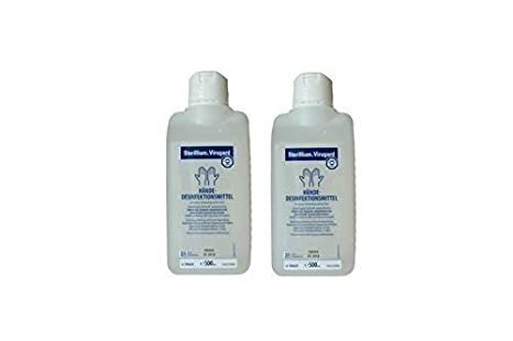 2 Piezas Sterillium desinfectante de manos de Virugard 500 ml: Amazon.es: Salud y cuidado personal