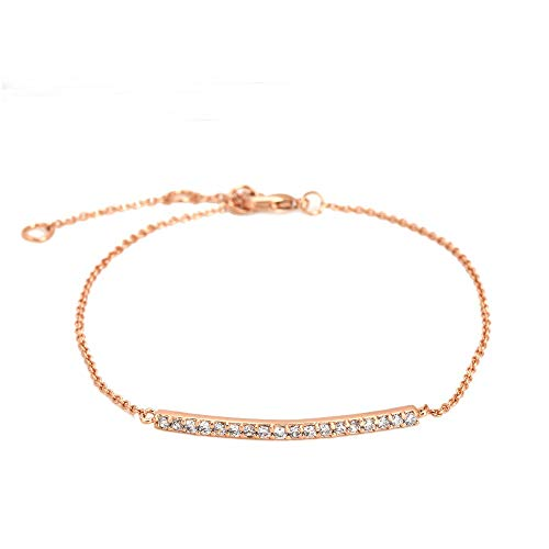 ZYH126 Concise Crystal Rose Gold Color Bracelet Jewelry Austrian Crystals Wholesale