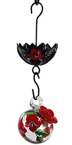 - BestNest Parasol Droplet Botanica Hummingbird Feeder & Moat, Hibiscus