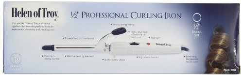 Helen Of Troy 1503 Spring Curling Iron, White, 1/2 Inch Barrel