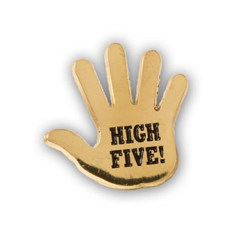 High Five Lapel Pins - Set of 10 Workplace & Classroom Recognition Pins
