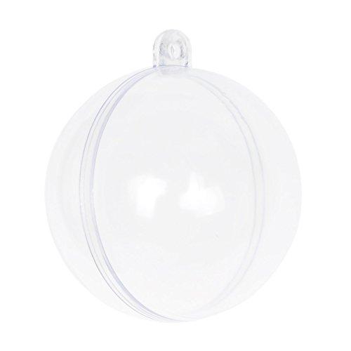 Seekingtag Clear DIY Fillable Plastic Ball Craft Ornaments 50 Mm – Pack of (Diy Ornaments)