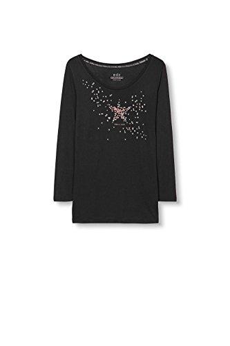 edc by Esprit 096CC1K028, Camiseta Para Mujer Negro (Black 001)