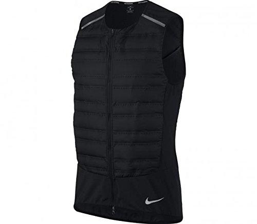 NIKE AeroLoft Men's Running Vest (Black/Metallic Silver, Small)