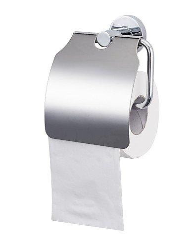 Portarollo papel higiénico con tapa anclaje a pared cromado