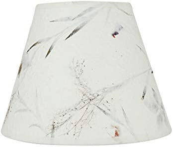 Aspen Creative White, 58902 Transitional Hardback Empire Shape UNO Construction Lamp Shade, 9 Wide 5 x 9 x 7