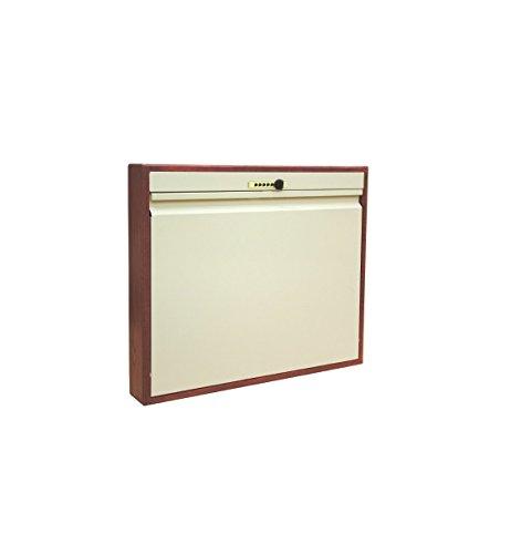 Omnimed 291540OAK Elite Manual Close Wall Desk with Push Button Lock, Oak Trim
