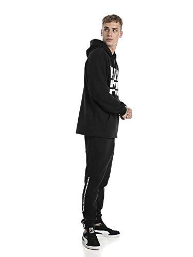 shirts cotton Noir Puma Homme Black Hoody Rebel Sweat Bold Fl HAH6RF