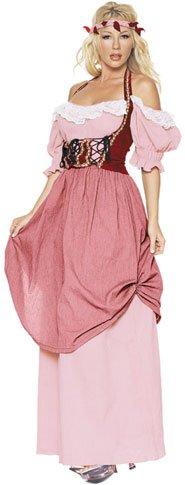 [Adult Women's Renaissance Dress Costume (Size: Small 2-6)] (Pink Renaissance Dress)