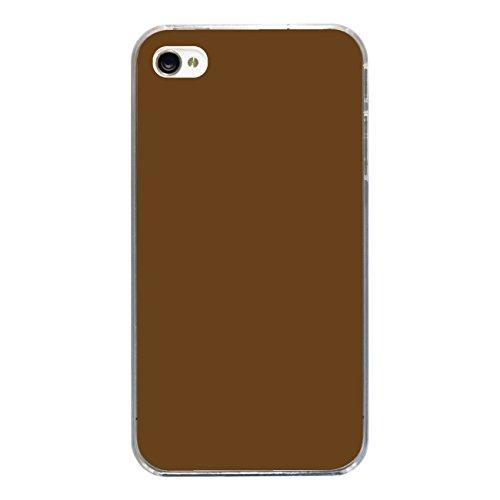 "Disagu Design Case Coque pour Apple iPhone 4 Housse etui coque pochette ""Braun"""