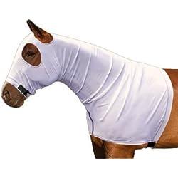 Sleazy Sleepwear for Horses Power Net Stretch Mesh Hood with Seperating Zipper Medium