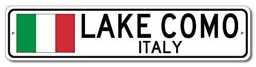 Street Signs In Italy (Lake Como, Italy - Italian Flag Sign - Aluminum 4