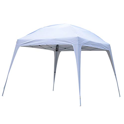 Outsunny 10' Large Dome Outdoor Portable Folding Sun Shade Pop Up Tent Canopy - White