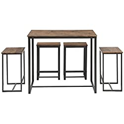 Abington Lane Kitchen Table Set - Versatile, Tall, Modern Table Set for Any Room or Occasion (4 Stools)
