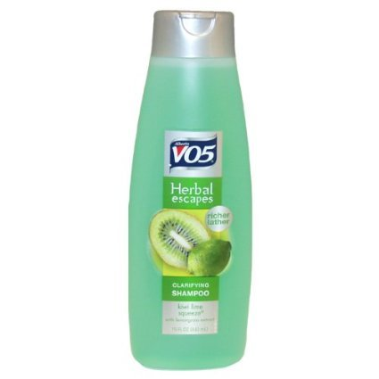 Alberto Vo5 Herbal Escapes Kiwi Lime Squeeze Clarifying Shampoo, 15 Ounce (Pack of 2)