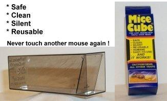 Mice Cube 4 Pk - Reusable Humane Mouse Trap Garden, Lawn, Supply, Maintenance
