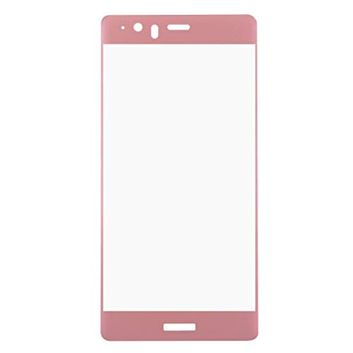 (Mobile Phone Tempered Glass Film For Huawei P9 Plus 0.26mm 9H Surface Hardness 3D Explosion-proof Colorized Silk-screen Tempered Glass Full Screen Film(Black) Tempered Glass Film ( Color : Pink ))