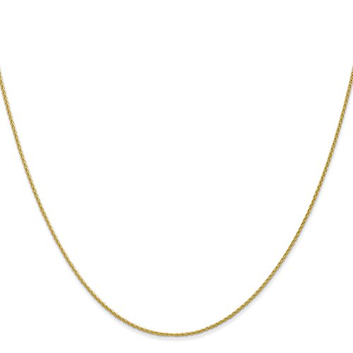 14k Yellow Gold .9mm Parisian Wheat Chain Necklace 14'' by Venture Jewelers