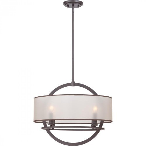 (Quoizel PTD2820WT Portland with Western Bronze Finish, Pendant and 4 Lights, Brown by)