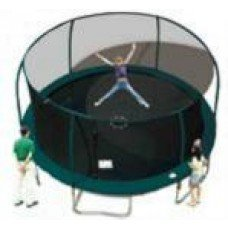 Net for 15ft Trampoline Enclosure using 6 Poles and Sleeves for Flex Poles