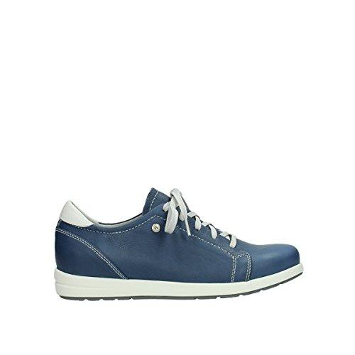 Wolky Komfort Gymnastik Kinetiska 30840 Jeans Blå Läder