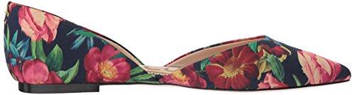 Sam Edelman Frauen Rodney Ballet Flat Navy Multi Bouquet Print