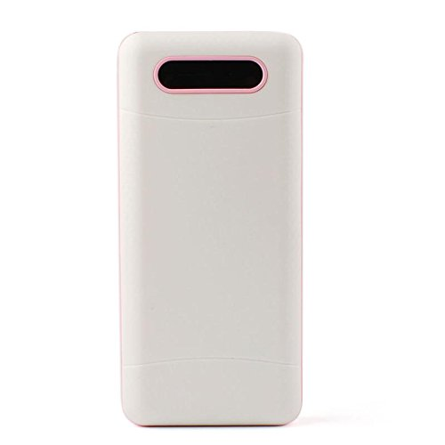 Price comparison product image FANMURAN 20000mAh Power Bank 3 USB LED Portable External Mobile LCD for Phones Pink