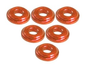 - 3Racing #3RAC-WFS820/OR Shock Tower Shim M8 x 2mm (6pcs) - Orange for 3Racing All